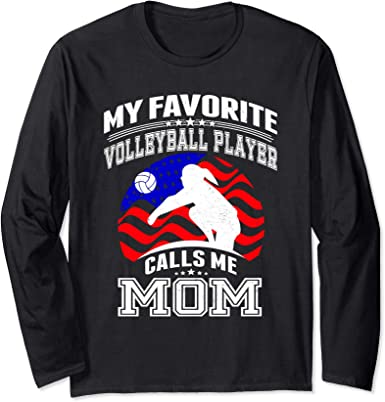 Cool Long Sleeve Shirt Proud Volleyball Mother Tee Shirt