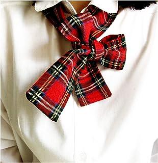 Bandeau foulard tartan donna, fiocco collana. Linea donna 2020