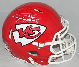 Tyrann Mathieu Autographed Helmet - Kansas City Chiefs Authentic Speed W Honey Badger - Autographed NFL Helmets