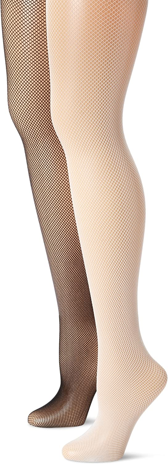 MUSIC LEGS Women's 2 Pack Plus Challenge the lowest price Popular popular of Japan Fishnet Pan Seamless Spandex Size