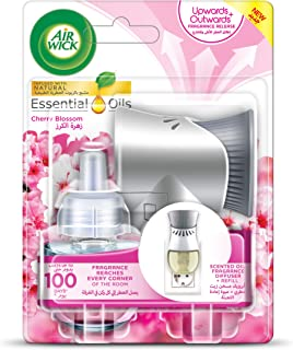 Air wick Air Freshener Essential Oil Diffuser Kit, Cherry Blossom- Gadget and 1 Refill, 19 ml