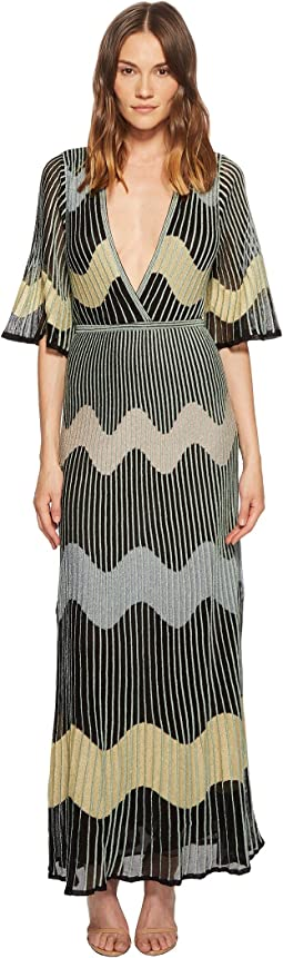 Lurex Wave Intarsia Maxi Dress