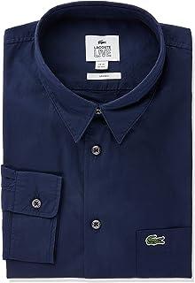 Camisa popelina de algodão boxy fit, Lacoste, Adulto unissex