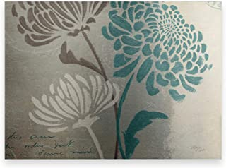 Trademark Fine Art Chrysanthemums II by Wellington Studio, Metal Art 16x22, Multi-Color