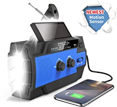 Emergency Weather Flashlight Radio,2021 Newest Crank Solar NOAA Radio with AM FM,Best Reception,4000mAh Power Bank,Super B...