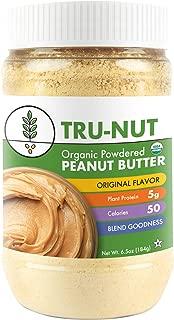 Tru-Nut Organic Powdered Peanut Butter, Original, 6.5 Ounce