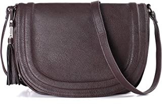 Crossbody Bags for Women, Purses and Handbags Flap Saddle Bag Multiple Pockets with Tassel