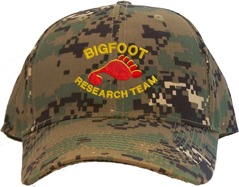 Bigfoot Research Team Embroidered Baseball Cap - Camo