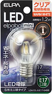 ELPA エルパ LED電球S形E17 電球色 屋内用 省エネタイプ LDA1CL-G-E17-G456