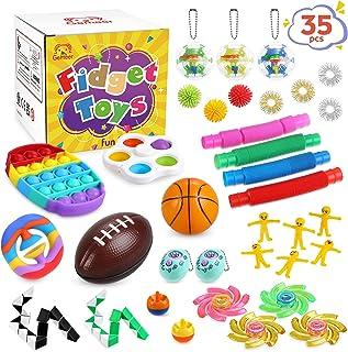 Gemeer Anti-Stress Pop Bubble Fidget Toys Sets,Jouets sensoriels à Presser en Silicone pour soulager Le Stress et l'anxiét...