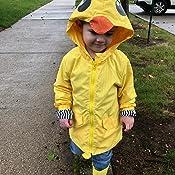 Anti-Stain Easy Clean Playwear Unisex Toddler Kids Duck Dinosaur Shark Animal Raincoat Cute Cosplay Party Jacket Windbreaker Baby Fall Winter School Oufits 5T, Quacker