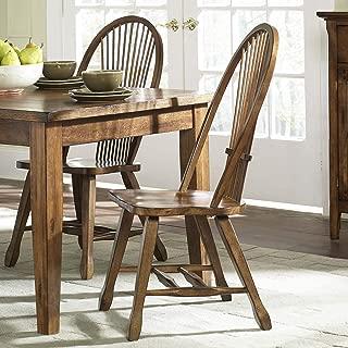 Liberty Furniture Industries Treasures Sheaf Back Side Chair - Oak, W18 x D20 x H41, Medium Brown