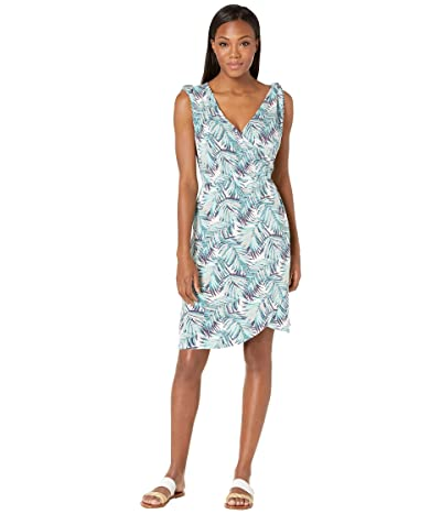 Royal Robbins Noe Cross-Over Dress (Aqua Print) Women