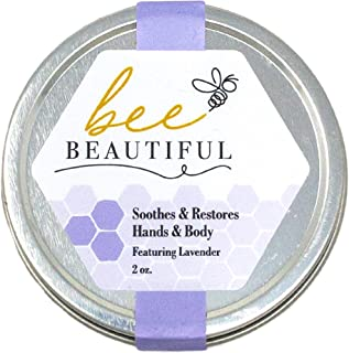 Bee Beautiful 100% Natural Intense Moisturize/Balm-Made with Beeswax- Restores & Repairs Skin - Zero Fillers - Featuring L...