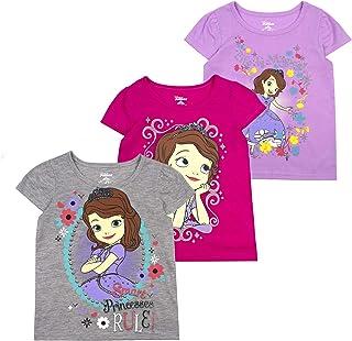 Disney Short Sleeve T-Shirt for Girls (Pack of 3)