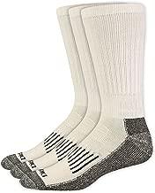 Dickies Men's Industrial Heavyweight Cushion Work Crew Socks - White, 3-Pack