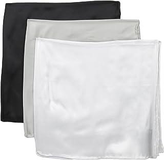 "Stacy Adams Men's 100% Silk Hand Rolled 17 ""x 17"" Pocket Square 3Piece Set"