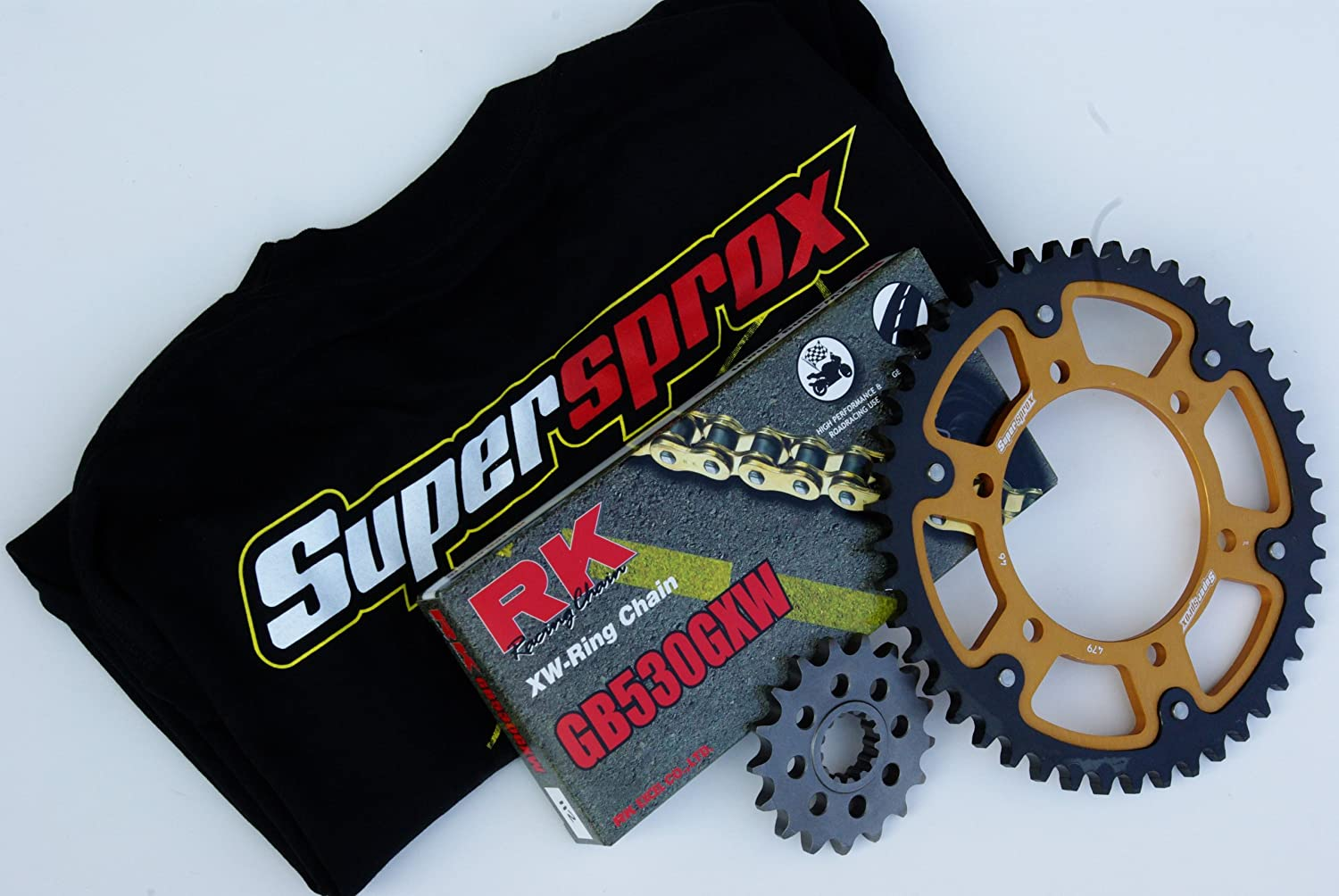 Supersprox Stealth Chain and Sprocket Set OFFicial mail order H GSX Suzuki Year-end gift for 1300R
