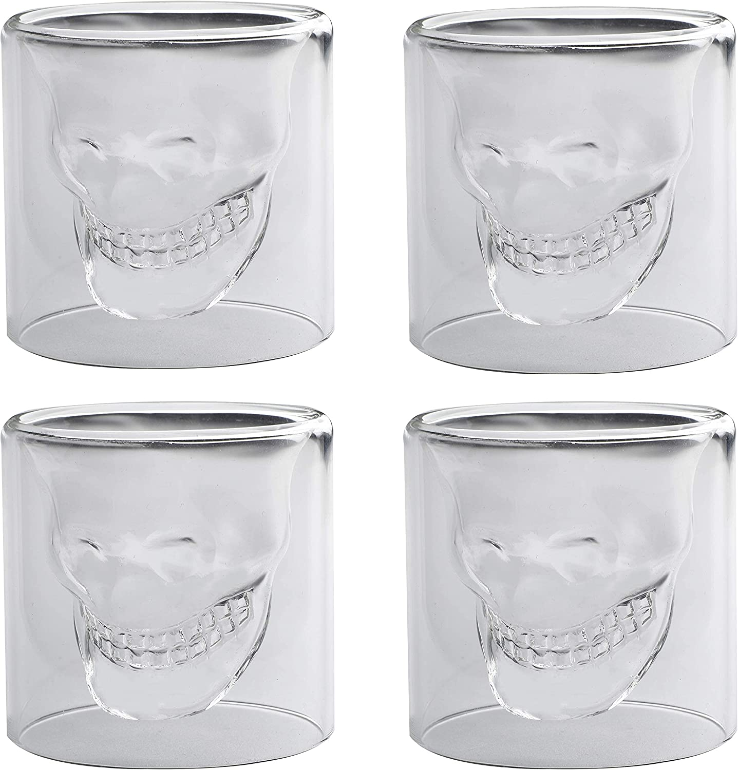 WICHBEEN Skull Glasses Shot Drinking Funny Cup Now free shipping Crystal Reservation