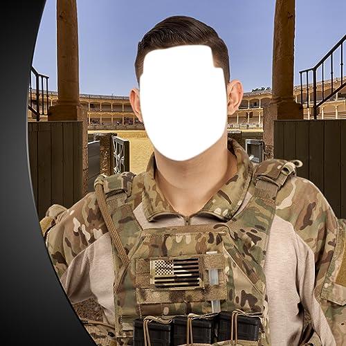 Montagem da foto do exército