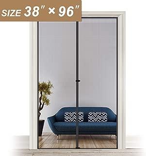 Magnetic Screen Door 38 x 96, Strengthened Heavy Duty Fiberglass Mosquito Net Curtain Fit Doors Size Up to 38