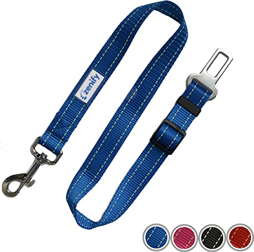 Zenify Dog Car Seat Belt Seatbelt Lead Puppy Harness - Heavy Duty Adjustable Carseat Clip Buckle Leash for Dogs Puppi...