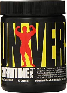 Universal Nutrition Carnitine 500mg, 30-Count