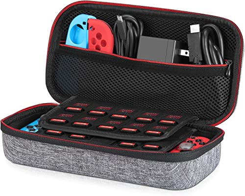 Etui pour Nintendo Switch - Younik Housse de Transport Rigide Version Améliorée avec Espace de Stockage Plus Large po...