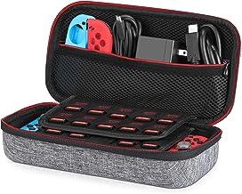 Funda para Nintendo Switch – Younik Versión mejorada Viaje rígida Case con más Espacio de almacenamiento para 19 Juegos, oficial adaptador de AC y otros accesorios Nintendo Switch - Gris