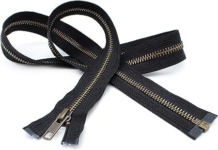 Gauge 5 Sale Wholesale Zippers Aluminum Metal Teeth Zippers 36 Inch White Silver Separating Jacket Zipper