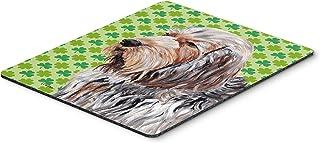 Caroline's Treasures Otterhound Lucky Shamrock St. Patrick's Day Mouse Pad/Hot Pad/Trivet (SC9732MP)