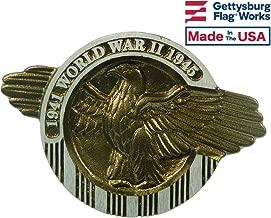 Aluminum Grave Marker WWII, Cemetery Memorial Flag Holder, Veteran Plaque, Made in USA