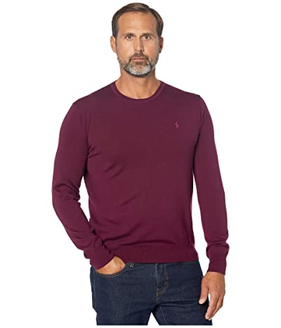 Polo Ralph Lauren Washable Merino Crew Neck Sweater (Classic Burgundy) Men