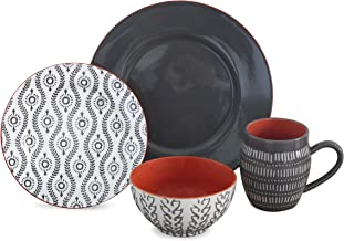 TANGIERS GREY 16 PIECE DINNERWARE SET
