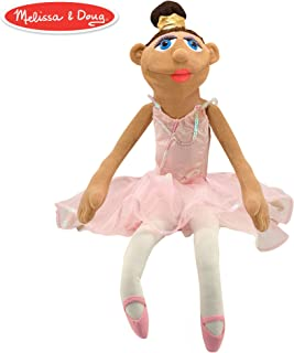 """Melissa & Doug Ballerina Puppet with Detachable Wooden Rod (Puppets & Puppet Theaters, Animated Gestures, Inspires Creativity, 15"""" H x 5"""" W x 6.5"""" L)"""