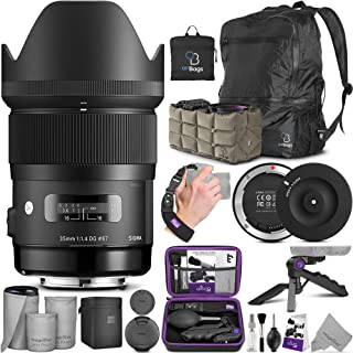 Sigma 35mm F1.4 Art DG HSM Lens for Nikon DSLR Cameras w/Sigma USB Dock & Advanced Photo and Travel Bundle