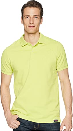 Short Sleeve Slim Fit Solid Pique Polo Shirt