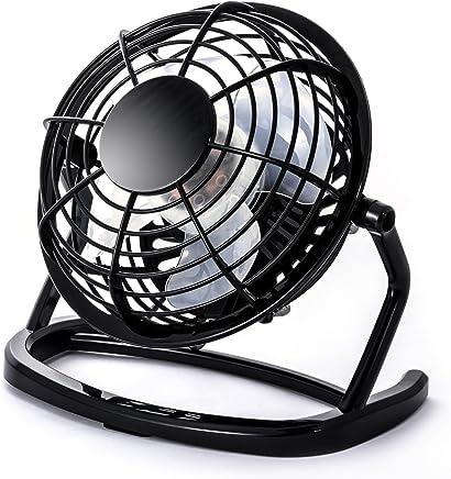 CSL - Mini Ventilateur USB | Mini ventilateur de bureau/Fan | ordinateur/ordinateur portable | en noir
