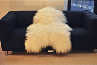 World of Leather Biggest | Soft and Silky | Icelandic Sheepskin Rug | (L 48