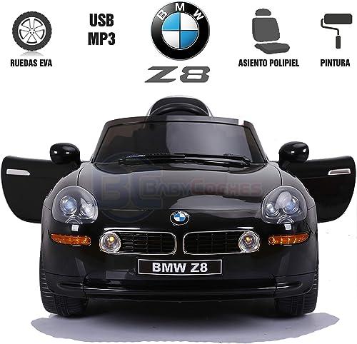 BC   Voitures  coches Voiture de Batterie pour Enfants BMW Z8, Licence Officielle, télécomhommede parentale, équipeHommest Audio, pneus EVA, siège en Cuir Synthétique Noir Peint