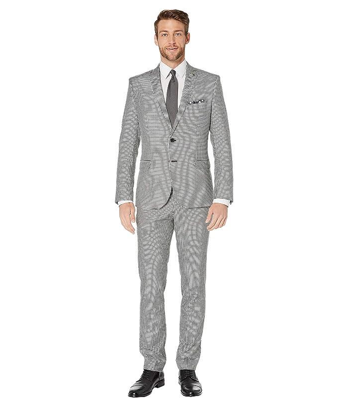 Nick Graham  Gingham Plaid Suit (Black/White Gingham) Mens Suits Sets