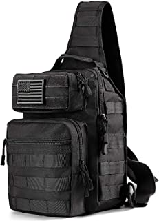 Prospo Tactical Sling Bag Pack Military Rover Assault Chest Backpack Small EDC One Strap Daypack Outdoor Hiking Camping Trekking