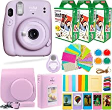 Fujifilm Instax Mini 11 Camera with Fuji Instant Film (60 Sheets) + Deals Number ONE Accessories Bundle Includes Case, Fil...