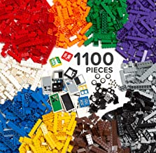 Play Platoon 1100 Piece Building Bricks Kit with Wheels, Tires, Axles, Windows and Doors Pieces - Classic Colors - Compatible with All Major Brands