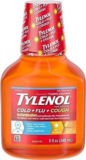 Tylenol Cold + Flu + Cough, Cold Medicine, Liquid Daytime Flu Relief, 8 fl. oz