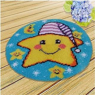 Crochet Kit pour Débutants, DIY Crochet Crochet Latch Crochet Kits, Tapis pour Adultes Et Enfants, Décoration De La Maison...