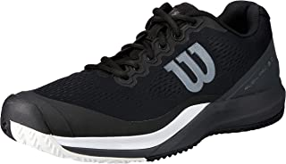 Wilson RUSH PRO 3.0 Tennis Shoes, Black/Ebony/White, 9