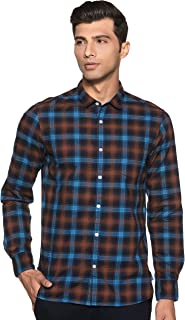Amazon Brand - Symbol Men's Checkered Slim Fit Full Sleeve Cotton Casual Shirt