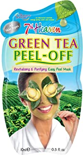 7th Heaven Green Tea Easy Peel Off Face Mask with Crushed Ginger and Lemon for Revitalising and Purifying Your Complexion - Ideal for All Skin Types