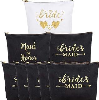 6 عبوات من حقيبة مكياج إشبينة العروس, , 8 قطع من وصيفات العروس - makeup bag